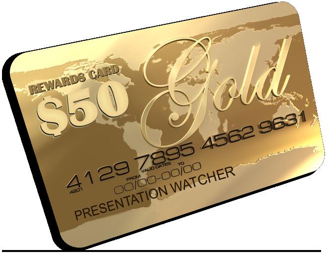 50 Dollar Reward Card Is Yours!